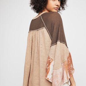 Free People Friday Fever Top Tan XS